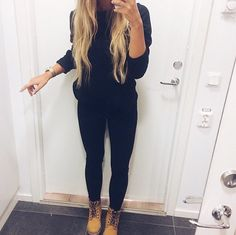 All black and some timbs