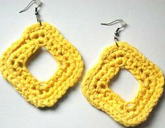 JADA Earrings - $13 These earrings are made with 100% organic ribbon cotton yarn and measure approximately 3 inches in length.