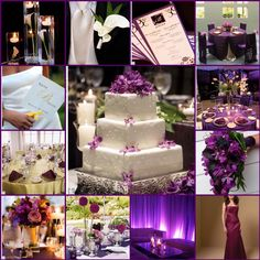 Wedding Inspiration Board #wedding #purple