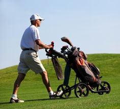 If you walk or are ready to start walking, and want to experience the feeling of having your own personal caddie, a golf push cart is the way to go. Golf Push Cart, For Your Health, Scores, Walking, Play, Website, Big, Woking, Hiking