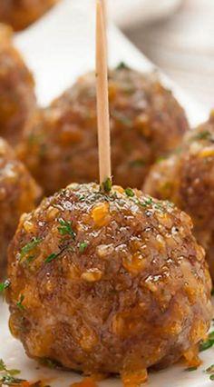 Zesty Sausage Cheese Meatballs