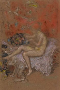 """""""The Fortune Teller"""" v: """"A nude lying on a sofa"""" James McNeill WHISTLER Charcoal and pastel (recto) charcoal (verso) on brown paper laid down on card x James Mcneill Whistler, Body Drawing, Fortune Telling, Tarot Readers, Heart Art, Vintage Photography, Printmaking, Art Gallery, Glasgow Scotland"""