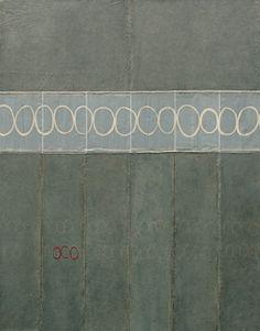 kathryn clark - waxed paper + rope + embroidery thread + acrylic glaze - gris