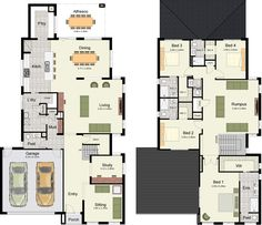 I like the huge laundry and pantry on main level, office to front. I like that each bedroom has its own bath upstairs too and the LR upstairs for kids space