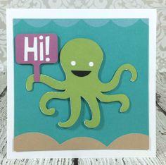 Cricut Artistry Octopus card