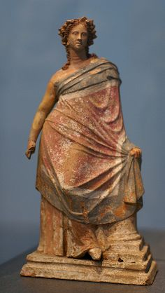 Young woman leaning on a column, Myrina, Greek Asia Minor, 2nd century B. C.