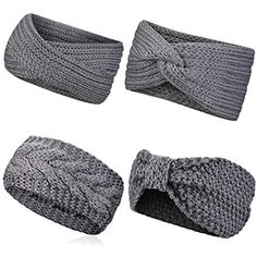 Crochet headband in cable pattern Free Knitting, Baby Knitting, Knitting Patterns, Knit Headband Pattern, Knitted Headband, Bandeau Crochet, Crochet Stitches, Knit Crochet, Easy Crochet Headbands