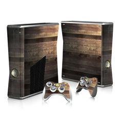 Wooden board Xbox 360 sticker for Xbox 360 console and 2 controllers. Choose your favorite design from a huge range of Xbox 360 stickers collection for Xbox 360 Console. Xbox 360 Console, Xbox One Skin, Console Styling, Ps4 Skins, Floor Stickers, Xbox 360 Games, Super Smash Bros, Wooden Flooring
