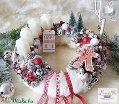 Adventi koszorú (levenduladekor) - Meska.hu Advent Wreaths, Christmas Wreaths, Holiday Decorations, Christmas Time, Diy, Home Decor, Xmas, Christmas, Decoration Home