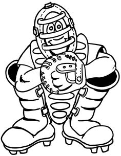 free coloring pages baseball theme - photo#12