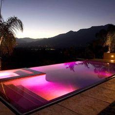 LED Lights in Negative Edge Pool