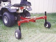 ATV Farm Implements | any ATV with a tow hitch. Works just like a tractor 3-pt. hitch.