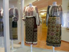 XIX-th century Traditional Romanian Folk Costumes from Muntenia, Muscel area, Arges county. Folk Costume, Costumes, Historical Clothing, Folk Art, Kimono Top, The Incredibles, Traditional, Romania, Gallery