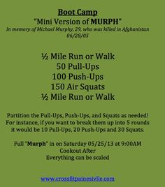 Mini Murph Workout!