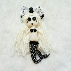 Gothic doll. Siren. Mermaid. Skeleton. Dark mermaid. Scary mermaid. Emo doll. Rag doll. Handmade.