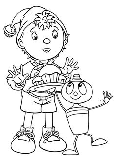 Top 10 Noddy Coloring Pages For #Toddlers
