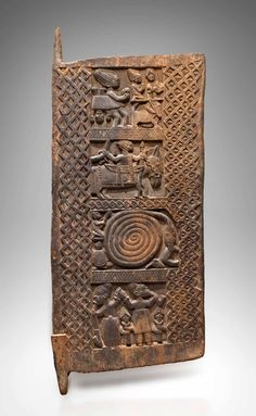 Africa | Door made by Yoruba artist Osamuku.  Country Osi Ilorin, Ekiti, Nigeria | Wood and nails | Late 19th - early 20th century