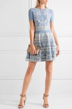 Alexander McQueen   Stretch jacquard-knit mini dress   NET-A-PORTER. 72f180d1bde