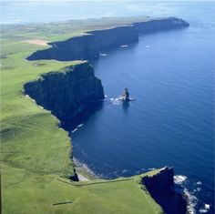 Aerial View of Cliffs of Moher