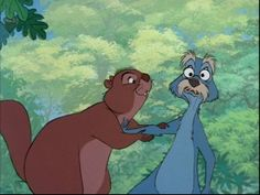 *MADAME SQUIRREL & MERLIN (as a squirrel) ~ The Sword in the Stone, 1963