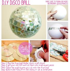 This is very simple to do and FABULOUS!!!! You can use this to decorate for a: [1] party(sweet 15/16) [2] Your room hanged from the ceiling [3] A center piece in a bowl or vase....