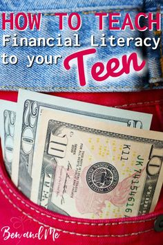 How to Teach Financial Literacy to Your Teen It is important and necessary that we as parents teach financial literacy to our teens. From budgeting to balancing a checkbook, saving and investing, taxes, and more, we can set our teens up for future financi Homeschool High School, Homeschool Curriculum, Homeschooling Resources, Financial Literacy, Financial Success, Consumer Math, How To Start Homeschooling, Catholic Homeschooling, Maddie Ziegler