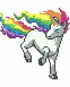 licorne facile   Pixel   Pixel art facile, Pixel Art et ...