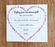 Stáhni si zdarma šablonu na vzkazy pro novomanželé #svatebnizabava, #svatebnihry, #svatebnipripravy, #svatba