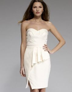 Lipsy Bandeau Pleated Bust Dress