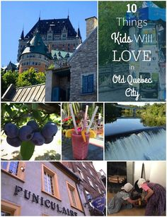 Summertime in and around Québec City offers the chance to delve into history, culture, and outdoor adventure. Here are 10 things kids will love in Old Québec. Old Quebec, Montreal Quebec, Quebec City, Montreal Canada, Summer Travel, Travel With Kids, Family Travel, Ottawa, Montreal With Kids