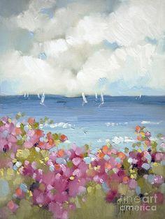 Nantucket Sea Roses - Joyce Hicks  - Nantucket Sea Roses Fine Art Print
