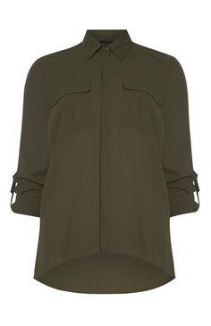 Primark - Khaki Military Shirt