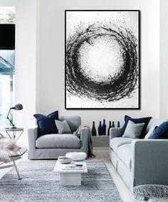 Large Abstract Art por FabuArtDecor