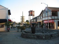 Japantown comprises about 6 city blocks of San Francisco and is the largest & oldest such enclave in the U.S. Its focal point is the Japan Center (opened in 1968), the site of 3 Japanese-oriented shopping centers and the Peace Pagoda, a 5-tiered concrete stupa presented to San Francisco by Osaka, Japan. The area has Japanese restaurants, supermarkets, shopping malls, hotels, and other shops. Japantown celebrates The Northern California Cherry Blossom Festival and the Nihonmachi Street Fair.