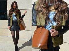 Zara Jacket, Zara Bag, Zara Skirt