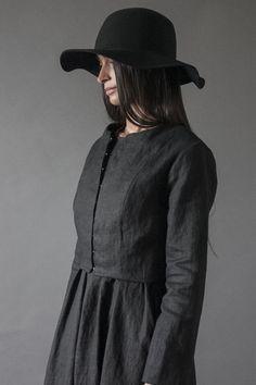Black Linen Jacket   Nuances Collection by Kesa   www.atelierkesa.com