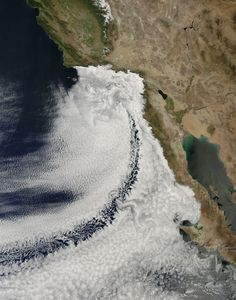 It was one cloudy California day on April 14, 2013, as seen in this out-of-the-world photo! See more amazing images of earth from space in 2013 w/ WIRED Science. (photo:NASA)