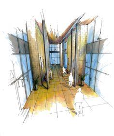 Community Center Hallway by danio1011.deviantart.com on @deviantART