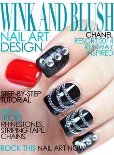 Chain & Rhinestone Nail Art Design Preview (Chanel Resort 2014 Runway Inspired)