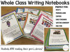 Whole Class Writing Notebooks