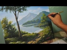 Acrylic Landscape Painting Lesson – Morning in Lake by JmLisondra - Painting Techniques Basic Painting, The Joy Of Painting, Acrylic Painting Techniques, Painting Still Life, Painting Videos, Learn Painting, Painting Tips, Acrylic Landscape, Landscape Paintings