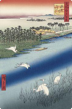 逆井のわたし|歌川広重|名所江戸百景|浮世絵のアダチ版画オンラインストア