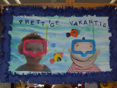 Have a nice Prettige vakantie! Have a nice holiday! Diving Goggles, Under The Sea Theme, School Themes, Too Cool For School, Summer Crafts, Strand, Summer Beach, Summertime, Presents