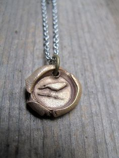 Bird on a Wire Seal Pendant by skykoltun on Etsy, $25.00