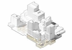architectural drawing ideas Axonometric illustration by and - Get featured Logo 3d, Architecture Drawings, Architecture Diagrams, Presentation Styles, Landscape And Urbanism, Architecture Presentation Board, Roof Detail, Drawing Techniques, Drawing Tutorials