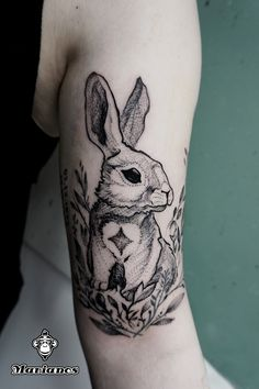 Who could win a rabbit #animalcollective #rabbit #sweetheart #carrot #tattoo #blackwork