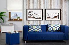 Obývačka - kolekcia tkanín Cotton Panama    #obývačka#modra#potahnasedacku#IKEA#taburetka Ikea, Couch, Furniture, Home Decor, Settee, Decoration Home, Ikea Co, Sofa, Room Decor
