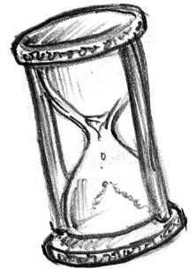 Simple hourglass tattoo design.