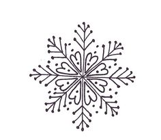 snowflake embroider pattern