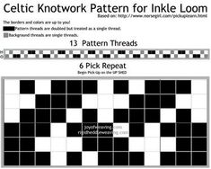 Celtic Knot Warp Faced Weave Chart